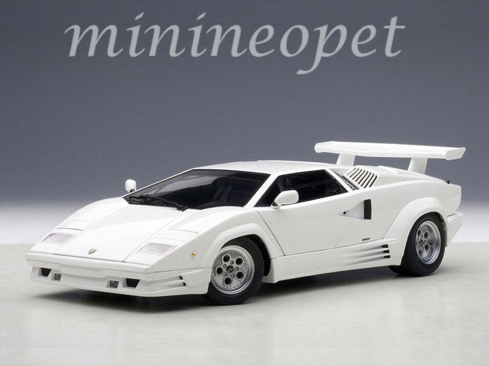 AUTOart 74537 LAMBORGHINI COUNTACH 25TH ANNIVERSARY EDITION 1 18 MODEL CAR WHITE