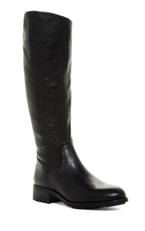 Sam Edelman Womens Ryan Riding Black Boots Sz 8.5 7868