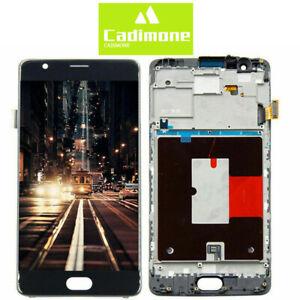 Pour-Oneplus-3-A3000-A3003-LCD-Display-Ecran-vitre-tactile-Assemblee-Noir-Cadre