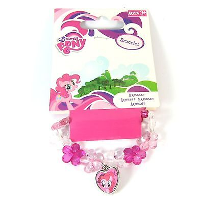 Official Licensed My Little Pony Pink Flower And Heart Charm Bracelet