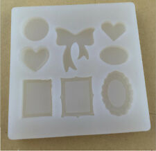 Oval/Heart/Butterfly Cabochon Silicon Mold Mould Epoxy Resin Jewelry Making DIY