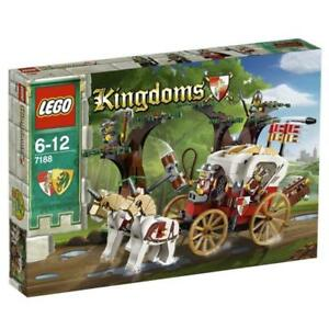 Lego-Castle-7188-KING-039-S-CARRIAGE-AMBUSH-Helmet-Horse-Dragon-Knight-Tree-NISB