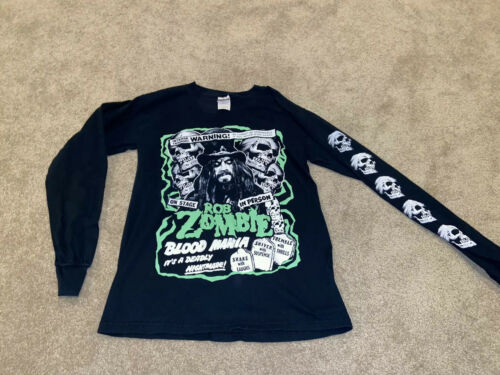 Rob Zombie Vintage Tour Shirt Long Sleeve Skulls W