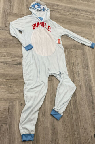 Rudolph Bumble Abominable Snowman Hooded Fleece Pajamas One Piece Adult PJ/'s