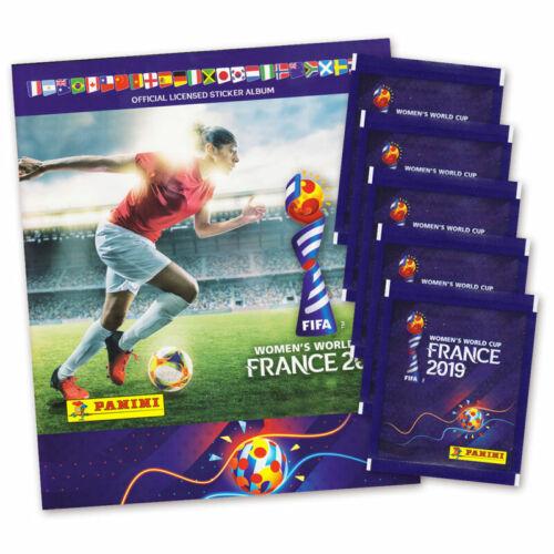 Football Coupe du monde FRANCE-Women /'s coupe du monde France 2019 AUTOCOLLANT ALBUM et 5 Booster Pochettes