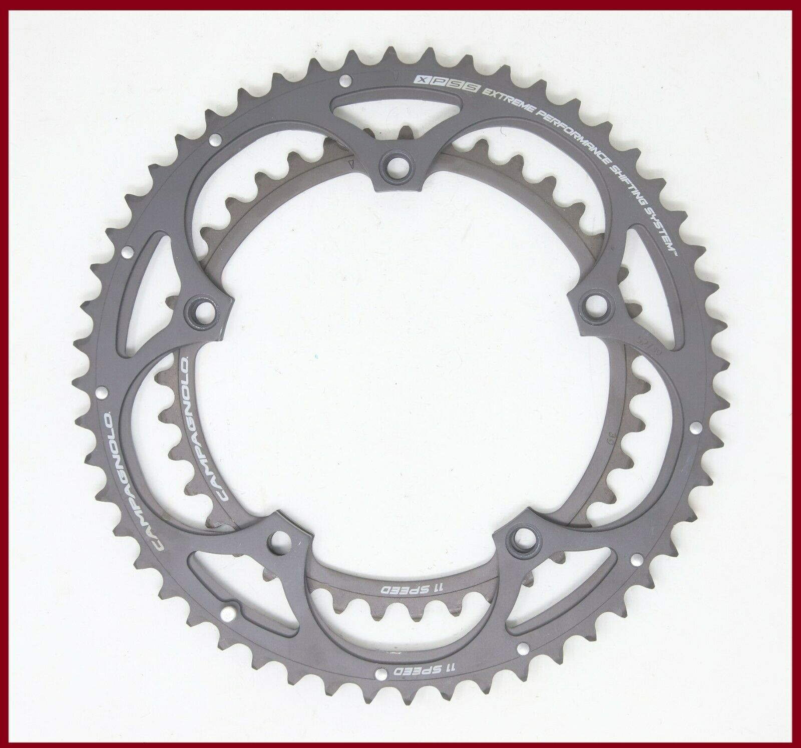 NEW 11sp CAMPAGNOLO SUPER RECORD 52 39 EPSS CHAINRINGS 11 SPEED 119 grams CHORUS
