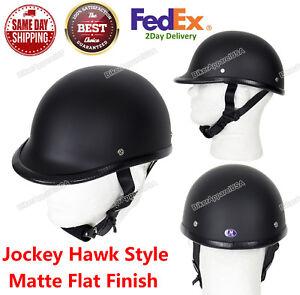 JOCKEY POLO MOTORCYCLE NOVELTY HELMET  FLAT MATTE BLACK