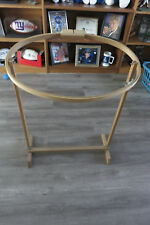 Vtg Quilting Quilt Frame Quilters Hoop Floor Stand Adjustable Rotates Needlework