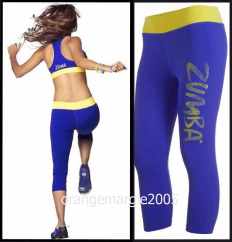 All Sizes ZUMBA Galaxy Capri Leggings Surf Blue Ultra-Flattering-Yoga,Cycle,Run