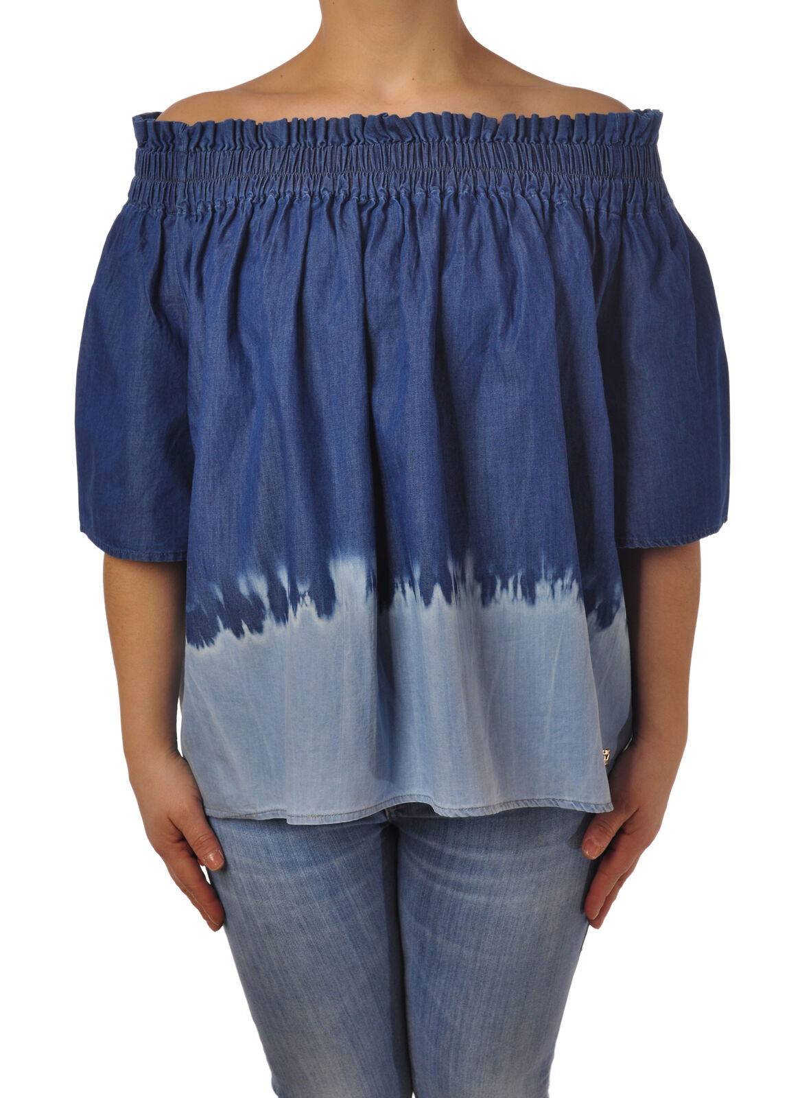 Twin Set - Blausen-Shirt - Frau - Denim - 5096410H185918