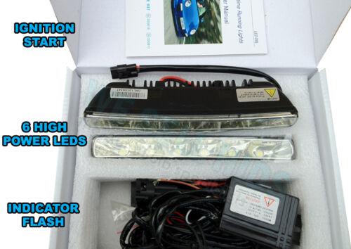 White 6LED Daytime Running DRL Day Light Car Front Light FOG LIGHT DIM bmw x5 x6