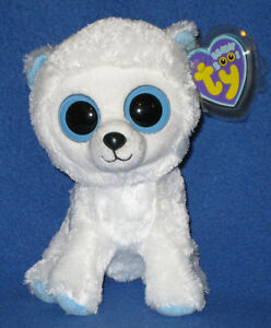 "AUTHENTIC TY TUNDRA the 6"" POLAR BEAR - BEANIE BOOS - MINT with MINT TAGS"