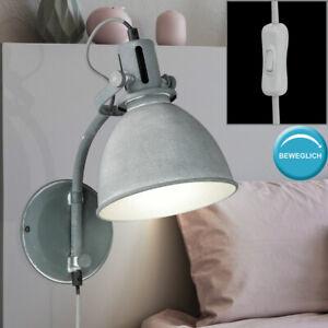 Retro-Wand-Leuchte-verstellbar-Wohn-Zimmer-Beleuchtung-Lese-Lampe-beton-grau
