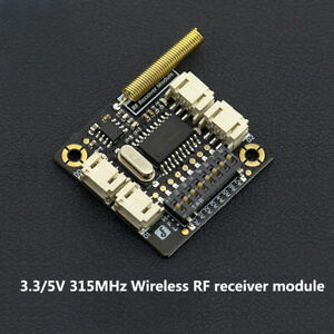 Details about New 315Mhz Key Wireless Remote Control Receiver Module for  Arduino