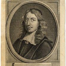 Portrait de Jean de Wit Hollande Gravure originale 18e siècle