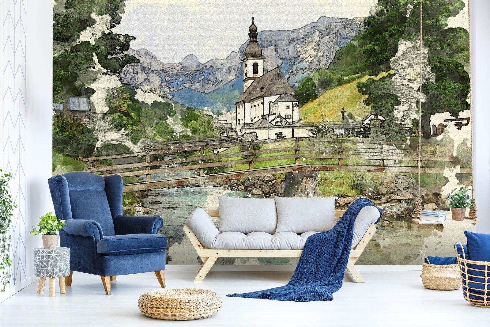 3D Feld Berge Natur 710 710 710 Tapete Wandgemälde Tapete Tapeten Bild Familie DE Sidney eb5fcb