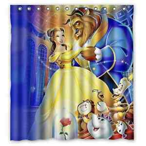 Image Is Loading Custom Beauty And The Beast Waterproof Bathroom Shower