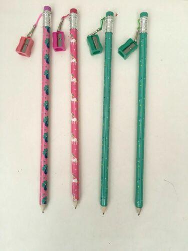 4x Jumbo Bleistift mit Radierer mit Spitzer Neu