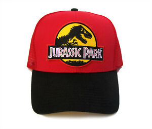 43687dd70 Details about Jurassic Park Movie Logo Yellow Sci-Fi Patched Snapback Mesh  Back 2tone Cap Hat