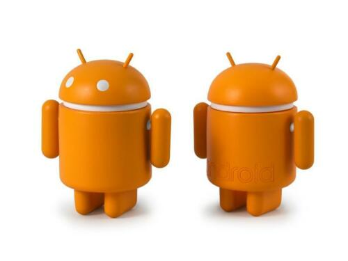 ANDROID MINI FIGURE ORANGE STANDARD ANDREW BELL DYZPLASTIC