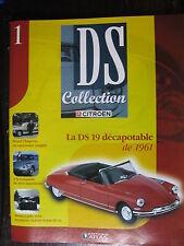 FASCICULE N°1 CITROEN DS  COLLECTION  19 DECAPOTABLE 1961