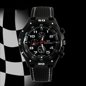 GT Sports Men's Watch Boys Smart Quartz Analog Silicone Stainless Steel