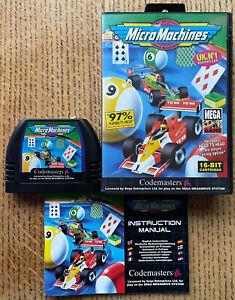 Micro Machines - Sega Mega Drive (UK PAL) - Complete with manual. Tested.