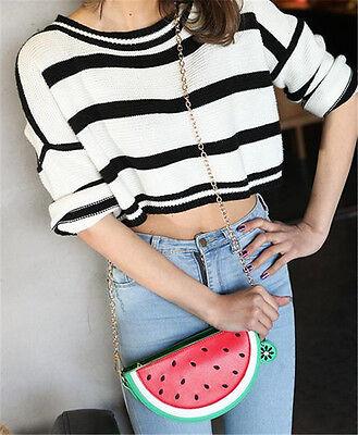 Cute Womens Orange/ Watermelon Pattern Shoulder Bag  Crossbody Bags Lolita Girls