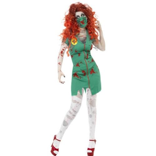 SMIFFYS costume zombie infermiera dottoressa HALLOWEEN carnevale SCHELETRO donna