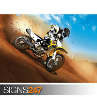 SUZUKI MOTOCROSS (1726) Photo Poster Print Art A0 A1 A2 A3 A4 - 2nd HALF PRICE!