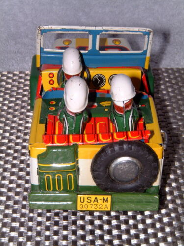RARE Alle Artikel in Elektrisches Spielzeug VINTAGE MITSUHASHI MILITARY POLICE TIN FRICTION DRIVEN JEEP W/BOX!