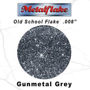 METAL FLAKE AUTO GUNMETAL GLITTER (0.008) CUSTOM PAINT FLAKES 60GRAM 2OZ SILVER