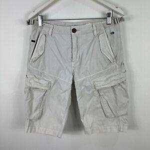Industrie-Mens-Cargo-Shorts-32-Grey-Pockets
