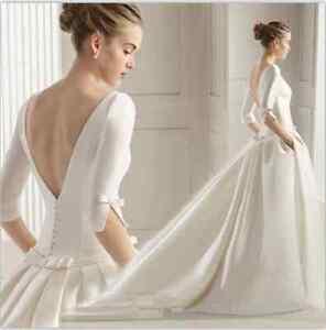 Elegant Simple Satin White /Ivory Bridal Gown 2018 Hot Wedding Dress ...