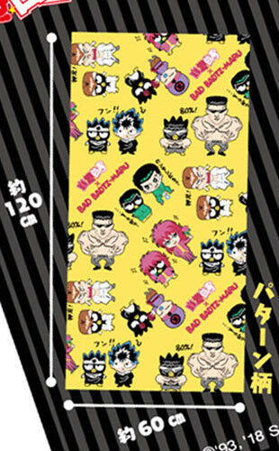Yu Yu Hakusho X Badtz Maru Yellow Group Prize Towel 120  x 60 cm