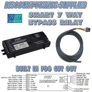 universal 7 way bypass relay pct zr2500 logicon towing bypass relay wiring diagram smart 7 bypass relay wiring diagram