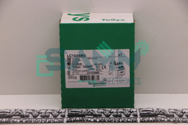 SCHNEIDER ELECTRIC LC1D38 BD CONTACTOR New