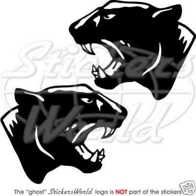 """NOIRE PANTHÈRE CHAT Leopard Jaguar 5.1/"""" Sticker Autocollant x2 TOUTE COULEUR"""