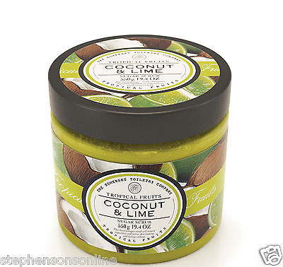 Tropical Fruits Coconut & Lime Sugar Scrub 550g