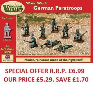 Valiant-miniatures-wwii-Aleman-PARACAIDISTAS-KIT-JUEGOS-DE-GUERRA