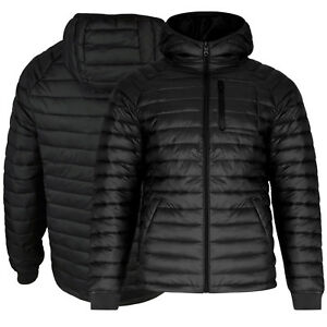 Mens Brave Soul Bubble Jacket Hooded Quilted Puffer Padded Winter Long Sleeve L Eine Hohe Bewunderung Gewinnen