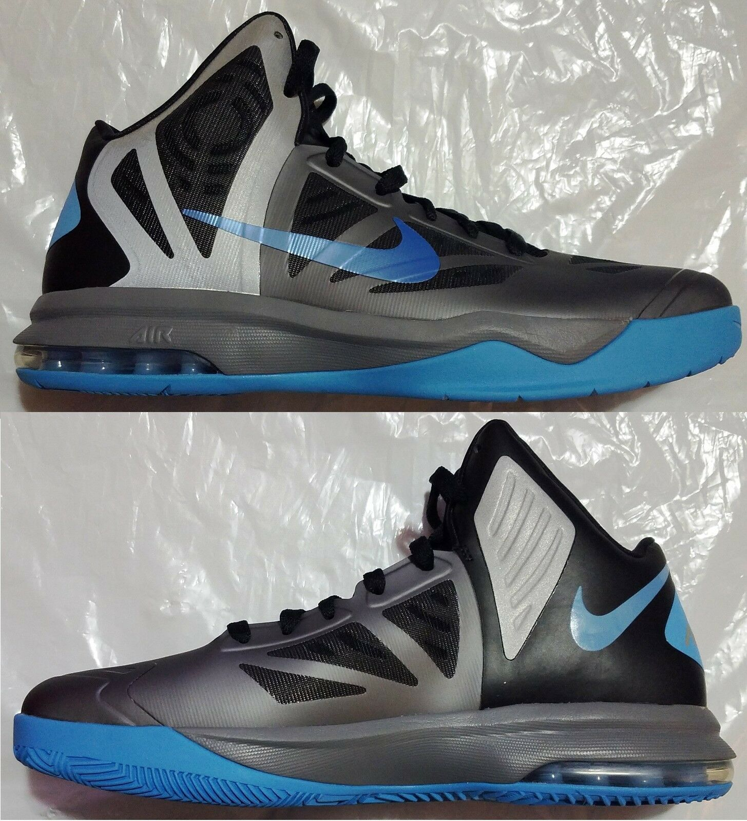 NIKE HYPERAGGRESSOR RFLCT MEN'S BASKETBALL COOL GREY - UNIVERSITY BLUE AUTHENTIC Wild casual shoes