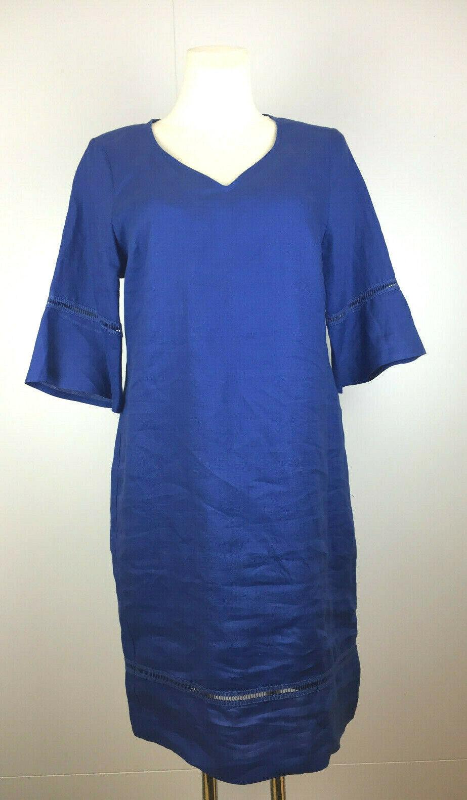 NEU Batida Kleid Style 7768 Leinenkleid royalblue v. Athens Designer Elana Poli