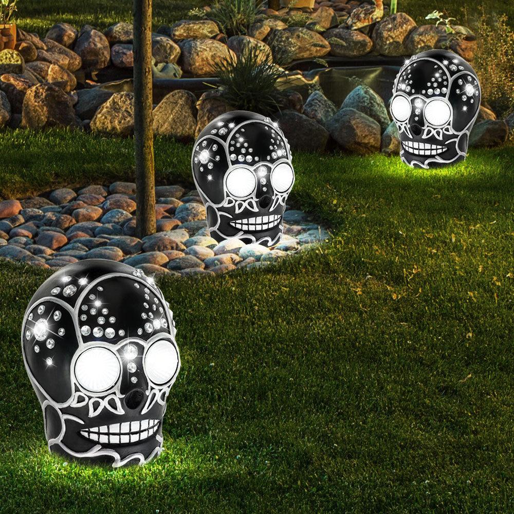 3 x lampe solaire DEL luminaire extérieur jardin terrasse éclairage LED jardin
