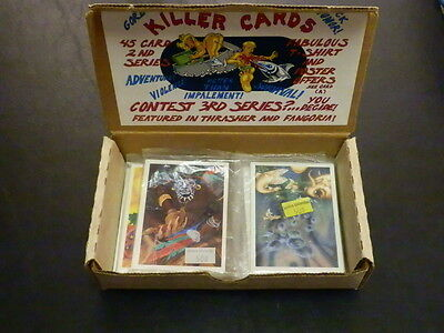 KILLER CARDS 1989 (10) Unopened Packs Box Cards Thrasher Fangoria survival gore