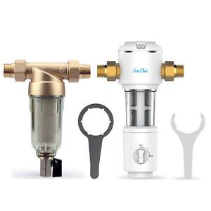 Update Whole House Sediment Water Filter Spin Down Home Filtration System New