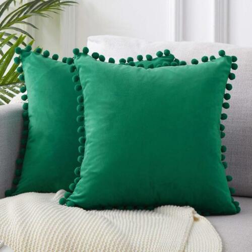 45x45cm Pillow Luxury Pom-poms Velvet  Cushion Soft Particle