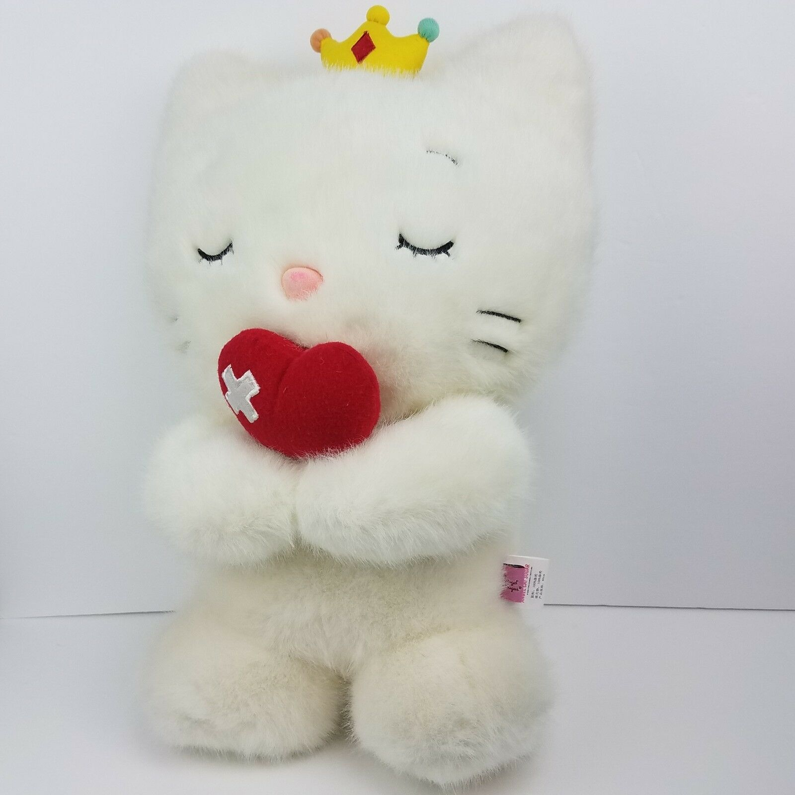 VERY RARE Large 18  ANGEL CAT SUGAR SUGAR SUGAR 2008 Yuko Shimizu Plush Japan Plush EXC d317ca