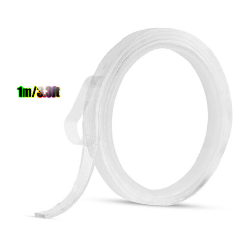 Double-sided Adhesive Tape Traceless Washable Nano Gel Strong Sticky Strips Grip