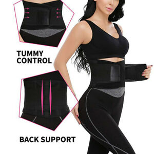 Waist-Trainer-Xtreme-Power-Back-Support-Belt-Hot-Slimming-Fajas-Body-Shaper-US